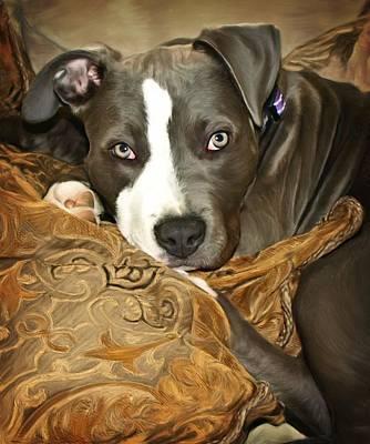Terrier Digital Art - Blu by Deanna Maxwell
