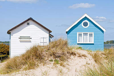 Photograph - Blue And White Beach Huts by Mick House