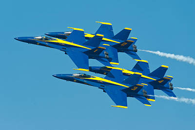 Blue Angels Print by Sebastian Musial