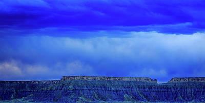 Blue Badlands Art Print