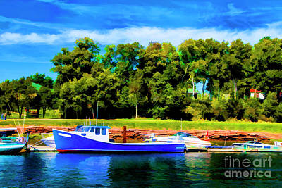 Photograph - Blue Boat by Rick Bragan