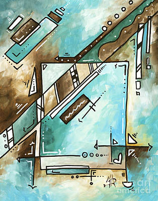 Blue Bonnet Original Abstract Pop Art Style Acrylic Painting By Madart Original by Megan Duncanson