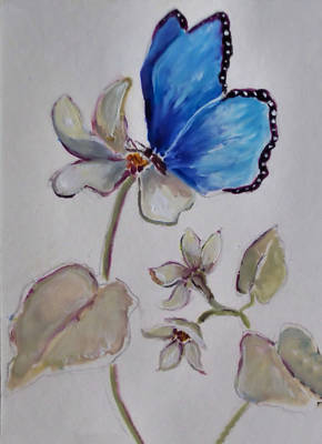 Painting - Blue Butterfly by Diane Ursin