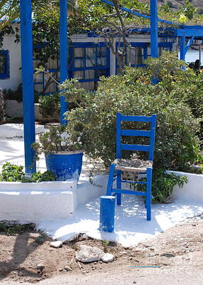 Blue Chair Art Print by Andrea Simon