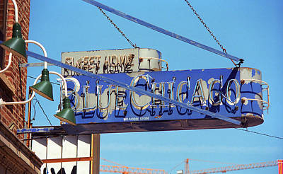 Photograph - Blue Chicago Club by Frank Romeo
