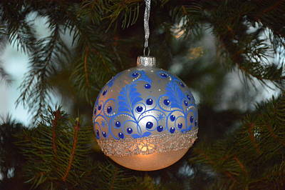 Photograph - Blue Christmas by Eve Tamminen