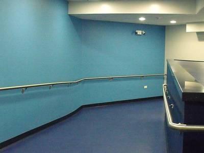 Blue Corridor Art Print