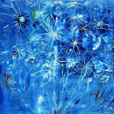 Painting - Blue Design by Evelina Popilian