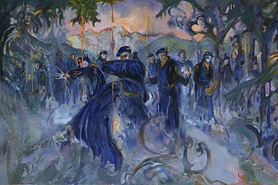 Blue Devil Alpine Gothic Art Print