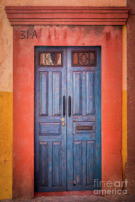 Blue Door Art Print by Inge Johnsson