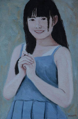 Painting - Blue Dress by Masami IIDA