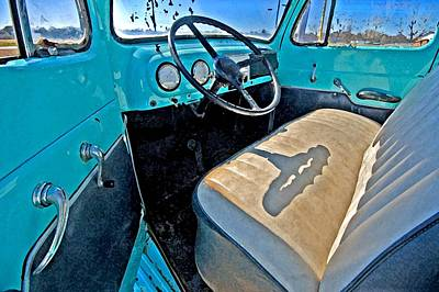 Painting - Blue Ford Pickup Truck by Michael Thomas