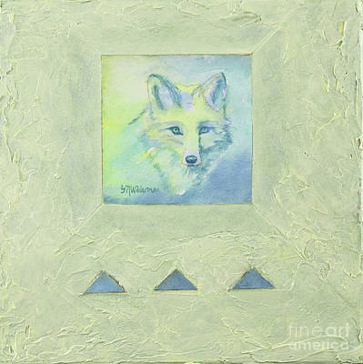 Painting - Blue Fox by Sandra Neumann Wilderman