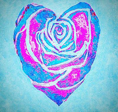 Painting - Blue Heart by Anne Sands