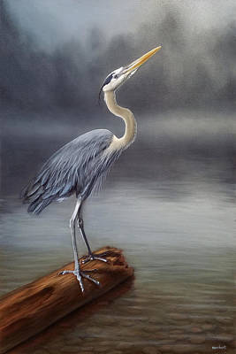 Painting - Blue Heron by Linda Merchant