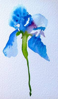 Painting - Blue Iris by Sacha Grossel
