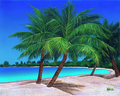 Painting - Blue Lagoon by Angie Hamlin