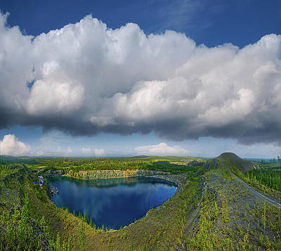Photograph - Blue Lake by Vladimir Kholostykh