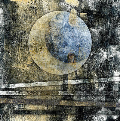 Eclipse Digital Art - Blue Moon by Carol Leigh