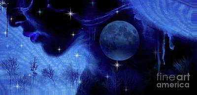 Fairy Photograph - Blue Moon by Prar Kulasekara