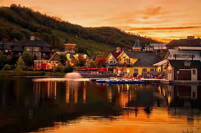 Photograph - Blue Mountain Village by Jeff S PhotoArt