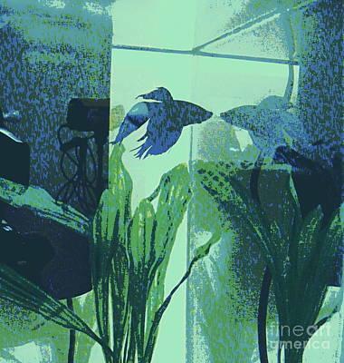 Digital Art - Blue by Nancy Kane Chapman