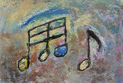 Impressionism Paintings - Blue Note by Anita Burgermeister