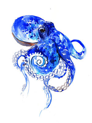 Painting - Blue Octopus by Suren Nersisyan