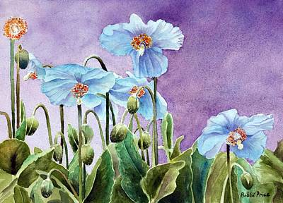 Painting - Blue Poppies by Bobbi Price