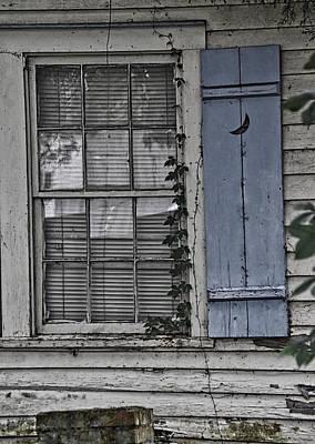 Photograph - Blue Shutter by Linda Brown