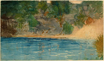 Winslow Homer Painting - Blue Spring. Florida by Winslow Homer