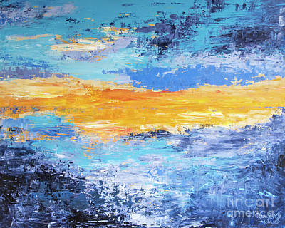 Painting - Blue Sunset by Cheryl McClure