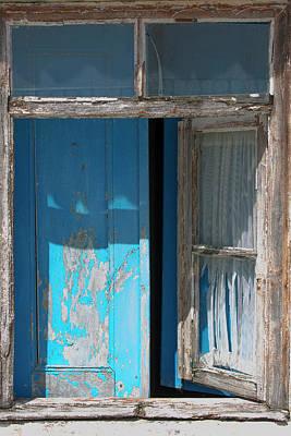 Photograph - Blue Window by Edgar Laureano