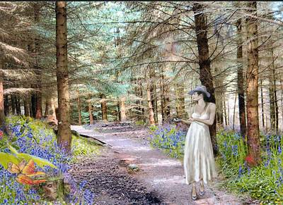 Digital Art - Bluebell Forest by George Flay