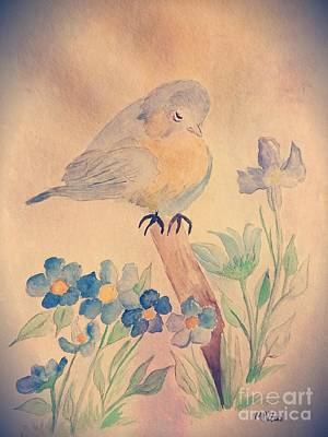 Painting - Bluebird by Maria Urso