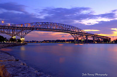 Bluewater Bridge At Sunset Art Print