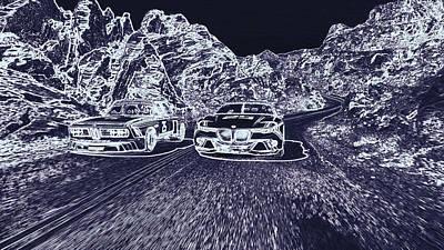 Hommage Digital Art - Bmw Csl Hommage R Bmv  by PixBreak Art