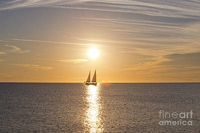 Photograph - Boat At Sunset by David Arment
