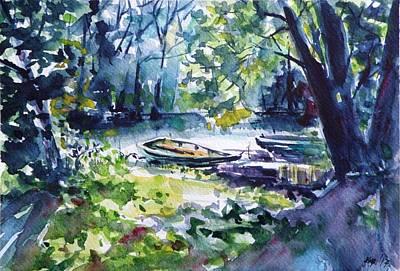 Painting - Boat by Kovacs Anna Brigitta