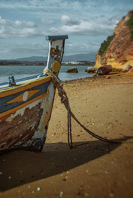 Photograph - Boat On A Beach by Carlos Caetano