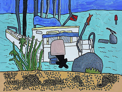 Wall Art - Painting - Boat On The Shore by Brandon Drucker