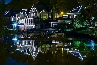 Philadelphia Phillies Stadium Photograph - Boathouse Row II by Frozen in Time Fine Art Photography