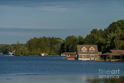 Photograph - Boathouses by Les Palenik