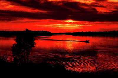 Photograph - Boating At Sunset by Graham Hobster