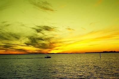 Photograph - Boating Thru Butter by Florene Welebny