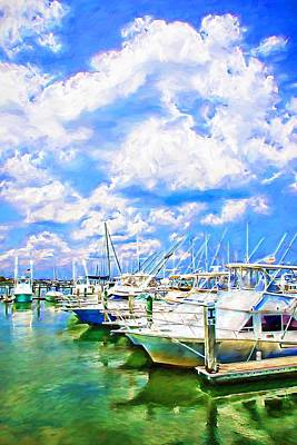 Photograph - Boats And Clouds by Alice Gipson