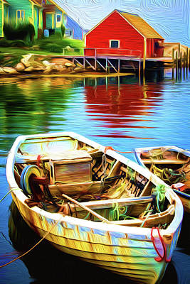 Painting - Boats by Andre Faubert