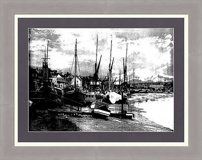 Photograph - Boats At Sundown Framed Print by Fine Art By Andrew David