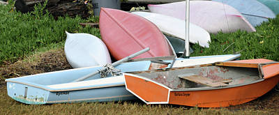 Boats Boats And More Boats Art Print by Barbara Snyder