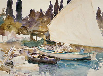 Drawing - Boats by John Singer Sargent